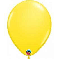 globo de látex liso de 11 pulgadas/ 27,9 cm 10 unidades color amarillo