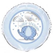 globo metalizado 18 pulgadas / 45,72 cm empacado elefantes azules