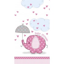 mantel del plástico  tamaño 137,16 x 274,32 cm elefante rosa