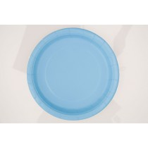 8 unidades platos de 9 pulgadas / 22,86 cm azul bebé