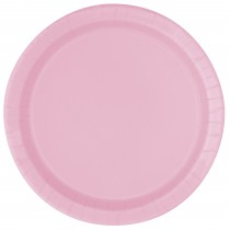 8 unidades platos de 9 pulgadas / 22,86 cm rosa claro