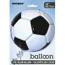 globo metalizado  empacado 18 pulgadas/ 45,72 cm balon de fútbol