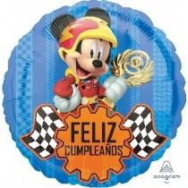 """18""""/45cm MICKEY COCHE FELIZ CUMPLEAÑOS (EMPAQUETADOS)"""