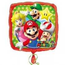 Globo cuadrado de Super Mario - Metalizado 45cm
