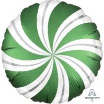 18 / 45cm Caramelo Verde Esmeralda Satin