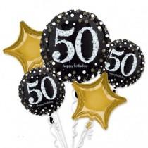 Boutquet de globos 50 Celebración Sparkling