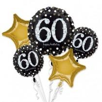 Bouquet de Globos de Cumpleaños 60 Celebración Sparkling