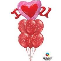 Ramos de globos para San Valentín